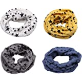 Richaa 4 PCS Infinity Scarves para niños, Star Winter Cotton Neck Warmer para niños niñas Multiuso O-Ring Collar Bufandas Som