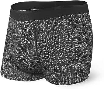 SAXX Underwear Men's Trunk Underwear – PLATINUM Men's Underwear – Trunk Briefs with Built-In BallPark Pouch Support - black - XS