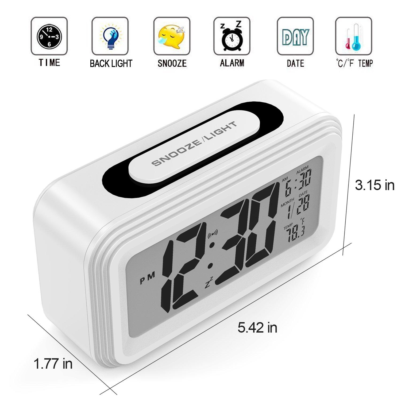 15e3ebbfea0c3c Annsky Sveglia Digitale, digitale sveglia elettronica con tempo ...