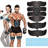 iThrough EMS Stimolatore Muscolare, Elettrostimolatore per Addominali, Elettrostimolatore Muscolare, ABS Trainer/Toner per Ad