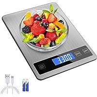 Balance Cuisine Numérique Electronique, 15kg/33lb Balance Alimentaire,Balance de Precision 1g ,Acier Inoxydable Batterie…