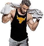 JUARI BE A Gentleman Men's Cotton Best Muscle Gym Bodybuilding Vest