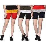 SHAUN Women Regular Shorts (Pack of 3)