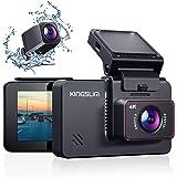 KINGSLIM D4 4K Double Dashcam Voiture avec Wi-FI GPS, Avant 4K / 2.5K Arrière 1080P Caméra de Voiture Embarquée, 170°Grand An