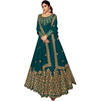 Royal Export Women's Fit and flare Maxi Gown (ashirwad_Green_XX-Large)