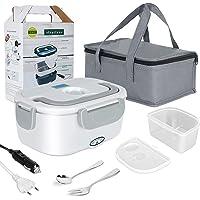 Boîte Chauffante Repas Lunch Box Électrique 3 en 1 pour Voiture Camion Bureau Travail 12V 24V 220V ,avec Sac Isotherme…
