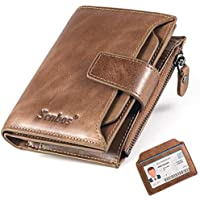 Senbos Portefeuille Homme en Cuir Véritable 18 Emplacements pour Cartes de Crédit Blocage RFID Portefeuille pour Homme…