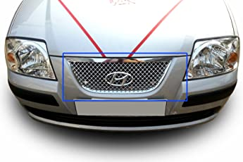 Autopearl Chrome Plated Front Grill for Hyundai Santro Xing