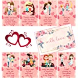 Fluffick Love Cards with Beautiful Envelope   Valentine, Birthday, Anniversary Gift for Your Loved Once (Set of 8 Cards)