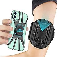 Cocoda Porta Cellulare da Corsa Staccabile, Porta Telefono Corsa Ruotabile a 360° con Auricolare e Portachiavi, per…