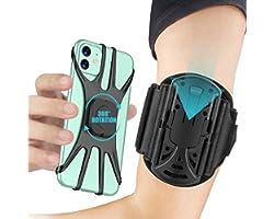 Cocoda Porta Cellulare da Corsa Staccabile, Porta Telefono Corsa Ruotabile a 360° con Auricolare e Portachiavi, per Fitness,