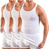 HERMKO 3000 Camiseta de Tirantes de Hombre 100% algodón orgánico