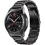 Quick Release Stainless Steel Replacement Watch Band For Samsung Gear S3 Frontier/Classic - Black