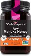 Wedderspoon Organic 100% Raw Premium Manuka Honey Kfactor 16+ - 17.6 Ounces
