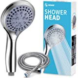 VEHHE Shower Head Powerful Flow with 1.5m Chrome Shower Hose Pressure Boosting Shower Head Spray with 5 Modes Water…