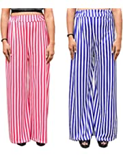 Aglobi India's No-1 Palazzo Pack of 2 Free Size