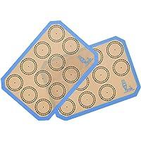 2 Pièces Tapis de Cuisson en Silicone, Tapis de Four en Silicone pour Le Biscuit et Macaron, sans BPA Anti-Adhérent…