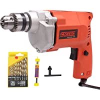 Cheston 10mm Powerful Drill Machine for Wall, Metal, Wood Drilling with 13 HSS bits and 1 Wall Bit for Drilling in Wood…