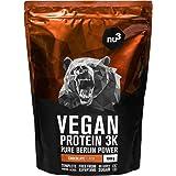 Proteine Vegane 3K - 1 Kg al gusto Cioccolato - Proteine in polvere dei piselli, semi del girasole e riso – Integratore a bas