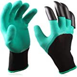 1 Pair Garden Gloves with Fingertips Claws, Safe Gardening Tool, Gift for Gardeners, Perfect for Digging Weeding Seeding Poki