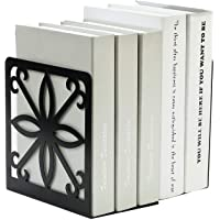 INDIAN DECOR 4466 Classics Book Ends for Shelves in Large and Wide Size 19.2 x 14 x 20cm (Black)