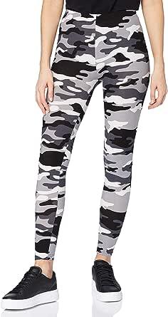 Urban Classics Damen Leggings Ladies Camo Yoga-Fitness-Hose, lange Streetwear- & Sporthose in Camouflage Optik in 4 Farben, Größen XS - 5XL