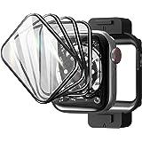 TAURI 4 Pack-Pantalla Protector Apple Watch 44mm Series 6/5/4/SE, 3D Curvo Bordes Completo Cobertura HD Protectora Película p