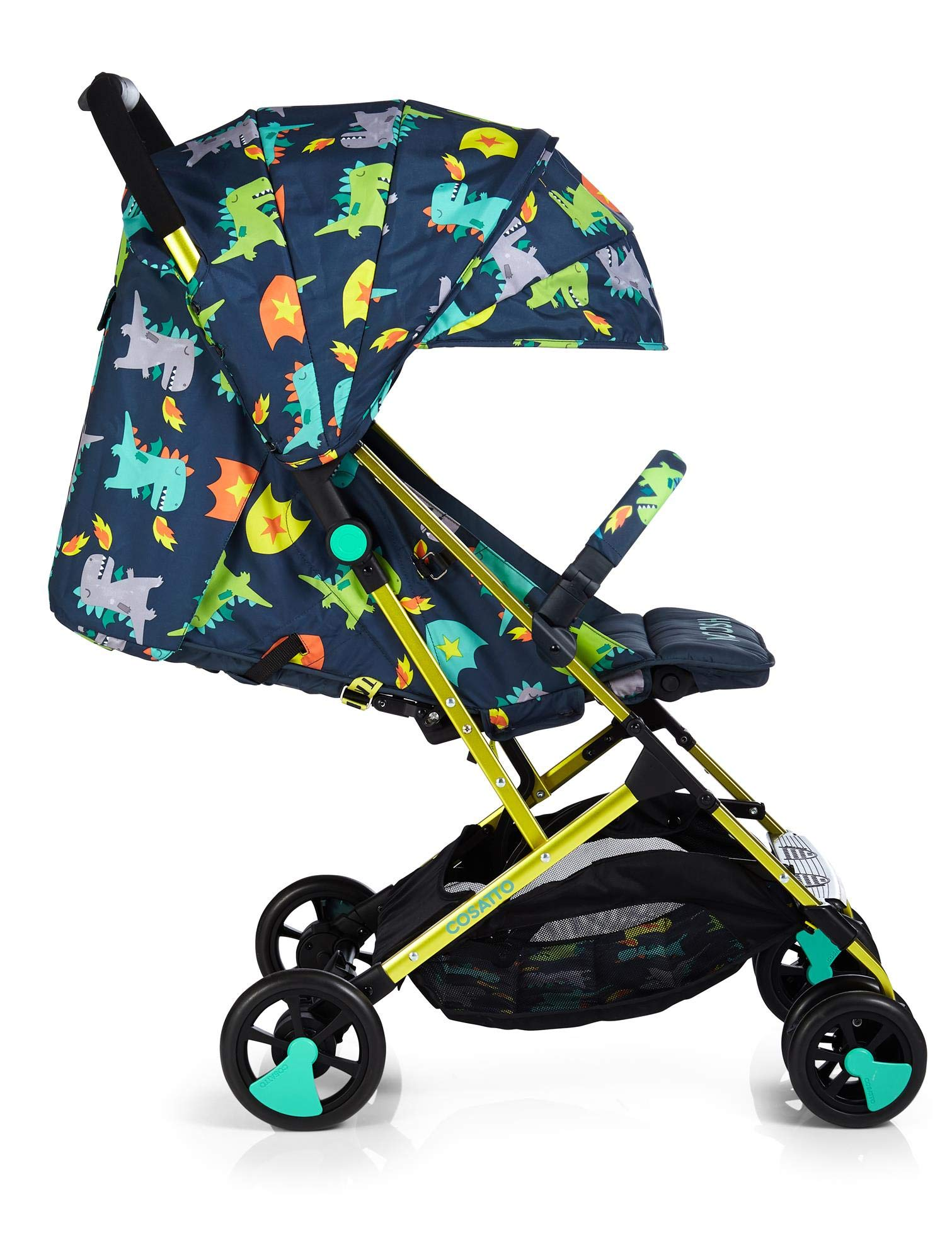 Cosatto CT4253 Woosh 2 Dragon Kingdom 7.2 kg Cosatto Suitable from birth to max weight of 25kg, lets your toddler use it for even longer Lightweight, sturdy aluminium frame New-born recline 1