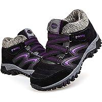Camfosy Bottes de Neige Femme Filles, Bottines Plates Chaussures de Sports Hiver en Suède Imperméable à Talons Plats…