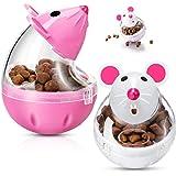 2 Alimentadores Interactivos de Comida de Gatos Bola de Comida de Gatos Volteador de Comida de Ratones Bola de Golosina de Ma