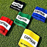 Captains Armband (Junior & Senior Sizes) (Selection Of Colours) – Suitable For Multiple Sports Including Football & Rugby [Net World Sports]