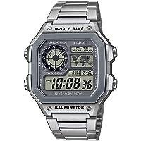 Casio Orologio Digitale Quarzo Uomini con Cinturino in Acciaio Inox AE-1200WHD-7AVEF