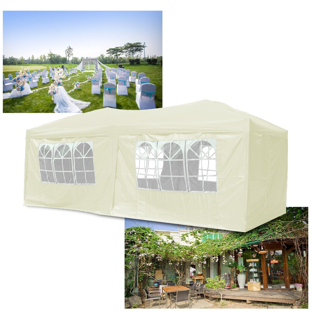 Huigou Pop Up 3x6m Gazebo With Sides Panels And Unique