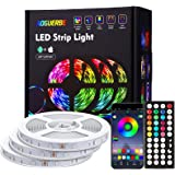 AOGUERBE Led Strip Lights with Remote 15M APP Control Led Lights for Bedroom, Room, Home RGB 5050 Color Changing Led Lights f