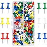 100 Pièces Multicolores Punaises, épingles murales dans un Boîtier de Rangement, Punaises à tête, Punaises Décoratives pour c