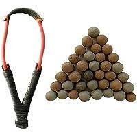 das departmental store catapult/slingshot/gulel/gulati/shikaar for game. (combo)-Best quality rubber-Black(Pack of 1 set…