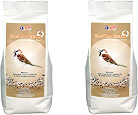 4 Kg- JiMMy - Feed The Sparrow - Wild Bird Food - 2Kg Pack of 2 Total 4 Kg - Refill for Bird Feeder