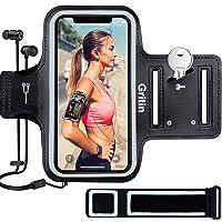 Gritin Fascia da Braccio Portacellulare per Correre, Sweatproof Porta Cellulare Braccio Sportiva per iPhone 11 Pro/XS/X…