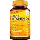 Vitamin D 4000 IU – Över 365 dagar med lättsvalda mjuka gelkapslar – Vitamin D3 kolekalciferol – Tillverkade i Storbritannien