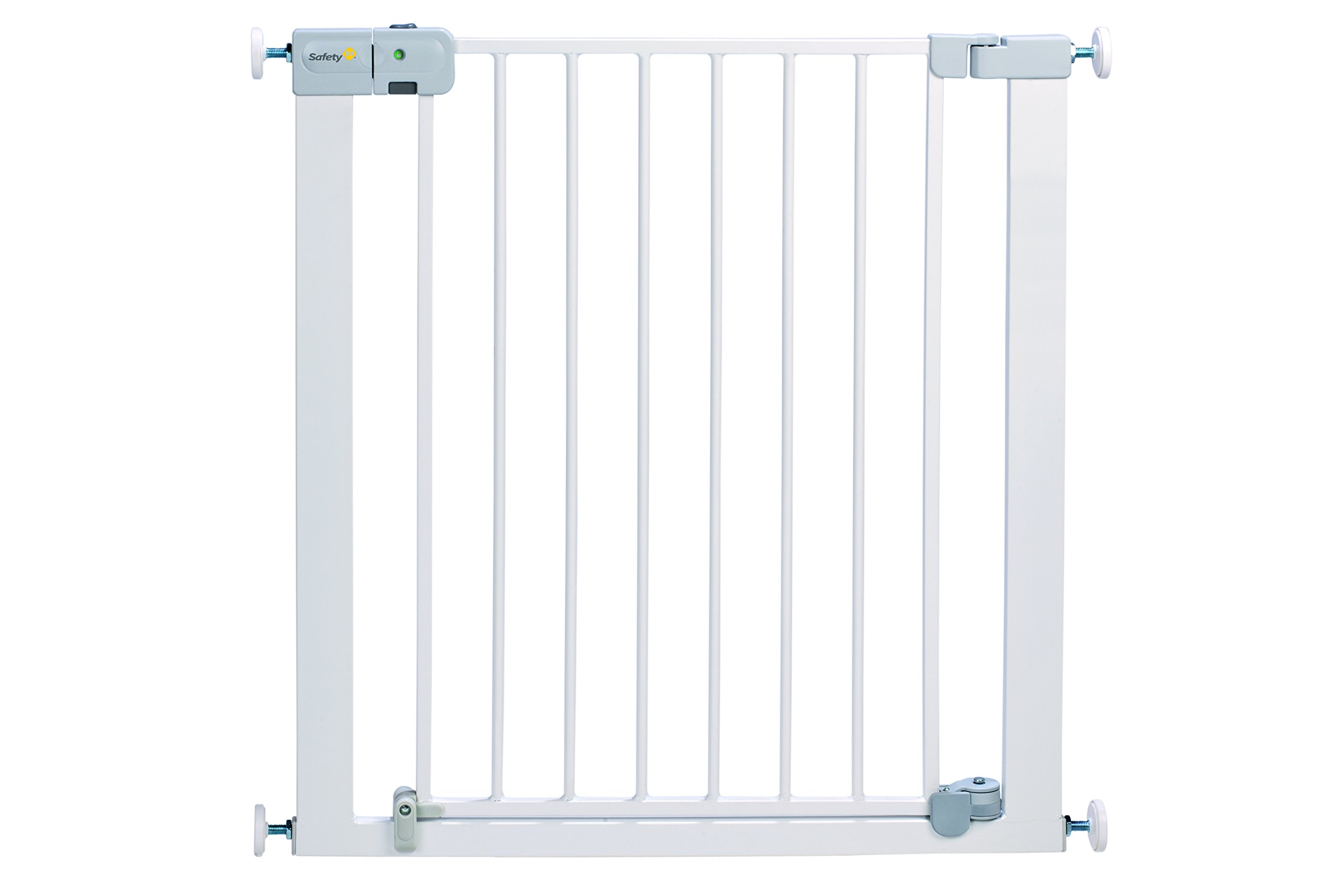 Safety 1st Securtech Auto Close Metal Gate, White  'True' Auto Close Gate which automatically closes for all opening angles Adjusts to fit openings from 73 cm to 80 cm Extends up to 136 cm with separately available extensions 1
