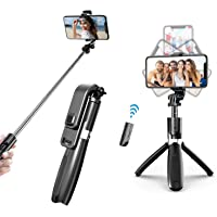 ZIVOBUDS® - 4 in 1 Selfie Stick with Remote (100cm) and Tripod for Smart Phones, GoPro and Camera (Type 1)