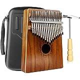 Kalimba 17 Schlüssel, Daumenklavier Kalimba Thumb Piano Finger Solide Kalimba Instrument mit Wasserdichte Schutzbox (KOA)