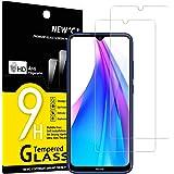 NEW'C 2-Stuks, Screen Protector voor Xiaomi Redmi Note 8T, Gehard Glass Schermbeschermer Film 0.33 mm ultra transparant, ultr