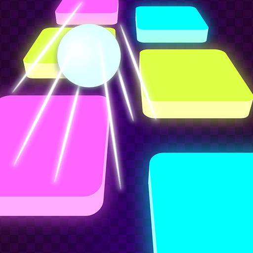 Tiles Neon - Hop Hop Bouncing Ball Rush: Free Games (2 Stress-bälle)