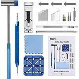 Chasse Goupille Montre, JOREST 38pcs Kit Reparation Montre, Outil Montre pour Ajuster et Remplacer et Perforer le Bracelet de