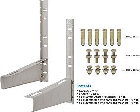 Alexvyan Iron Split AC Wall Mounting Bracket for Hitachi, Voltas, Lloyd, Whirlpool, Videocon, Daikin, Lg, Samsung, Kenstar and others(White)