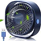 SMARTDEVIL USB-ventilator,USB-bureauventilator,kleine persoonlijke USB-ventilator,3 snelheden Desk Desktop-tafel Koelventilat