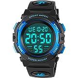 Orologi da bambino per ragazzi, orologio sportivo digitale impermeabile esterno con sveglia/cronometro, orologio da polso dig