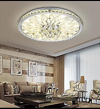 Kristall Deckenleuchte Runde Wohnzimmer Helle Und Moderne Atmosphre Minimalistischen Europische Lobby Restaurant Mit Fernbedienung Led