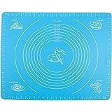 Backmatte, Bukm, Silikon Backmatte, Nonstick Maße Fondant Teig Gebäck Backmatte, 50 * 40cm, für Hausfrau, Kochen Enthusiasten (blau)